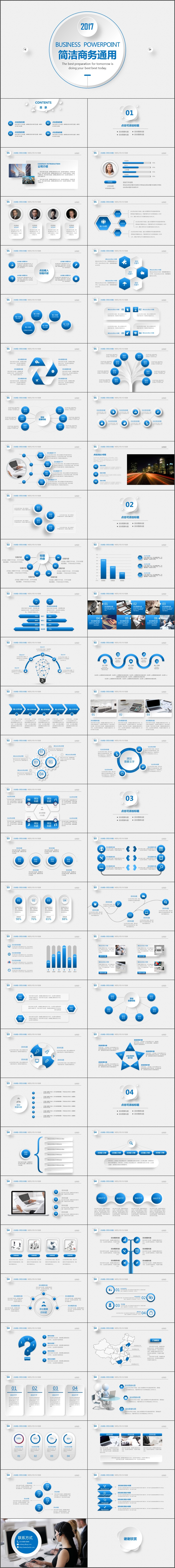 简洁大气公司企业宣传品牌宣传产品介绍PPT模板(726)