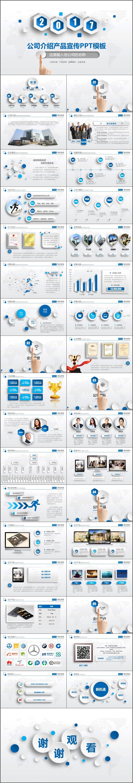 简约大气公司介绍产品宣传商业计划书PPT模板(973)