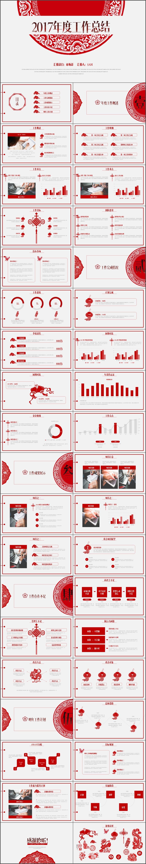 中国风大气工作总结年终总结工作计划PPT模板(2008)